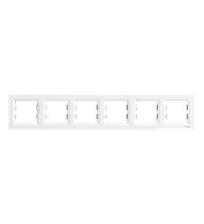Schneider Electric EPH5800621 Asfora, rámeček šestinásobný, bílá