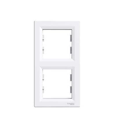 Schneider Electric EPH5810221 Asfora, rámeček dvojnásobný vertikální, bílá