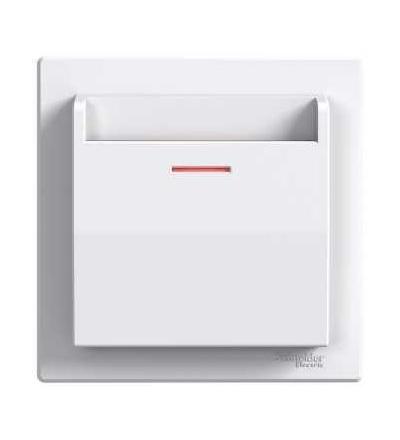 EPH6200121 Asfora, spínač pro hotelové karty, bezšroubový, bílá, Schneider Electric