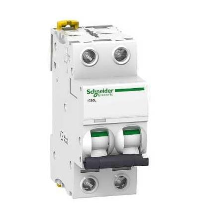 Schneider Electric A9F93270 Modulární jistič iC60L, 2p, 0,5A, char. B