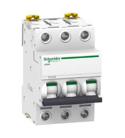 Schneider Electric A9F75370 Modulární jistič iC60N, 3p, 0,5A, char. D
