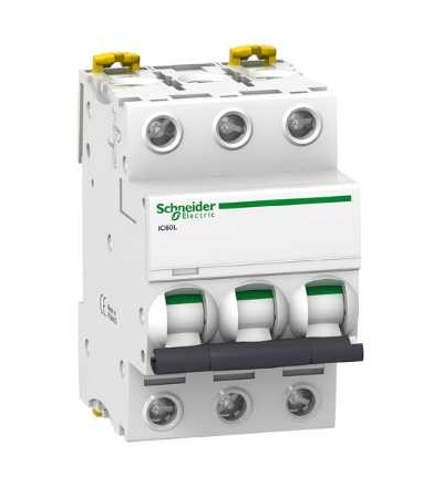 Schneider Electric A9F94370 Modulární jistič iC60L, 3p, 0,5A, char. C