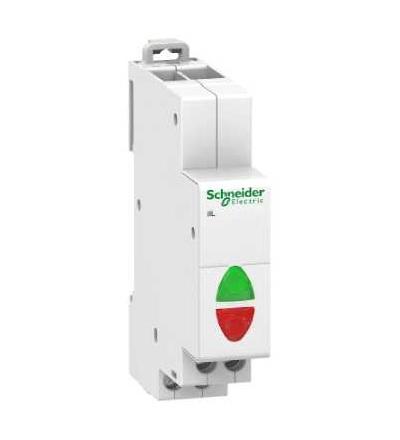 Schneider Electric A9E18335 Acti 9 iIL dvojitá signálka, zelená/červená, 12-48 V AC/DC