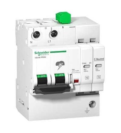Schneider Electric A9L16298 IQuick PRD8r modulární svodič přepětí, 1p+N, 264V, s dálkovým přenosem