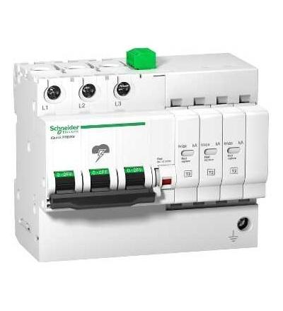 Schneider Electric A9L16299 IQuick PRD8r modulární svodič přepětí, 3p, 350V, s dálkovým přenosem