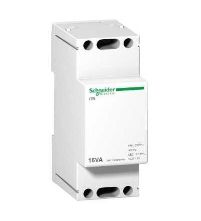 Schneider Electric A9A15212 Modulární zvonkový transformátor iTR, 230 V 50..60 Hz, výstup 8..12 V, 16 VA