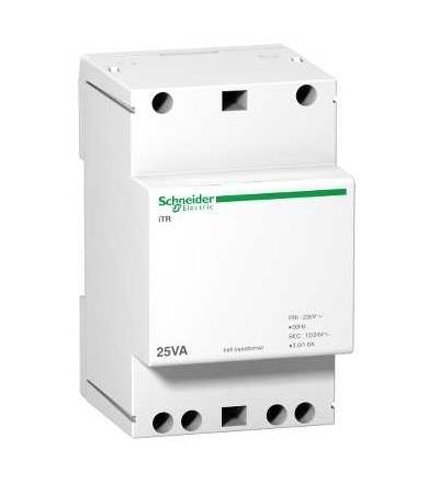 Schneider Electric A9A15215 Modulární zvonkový transformátor iTR-230 V 50..60 Hz-výstup 12..24 V-25 VA