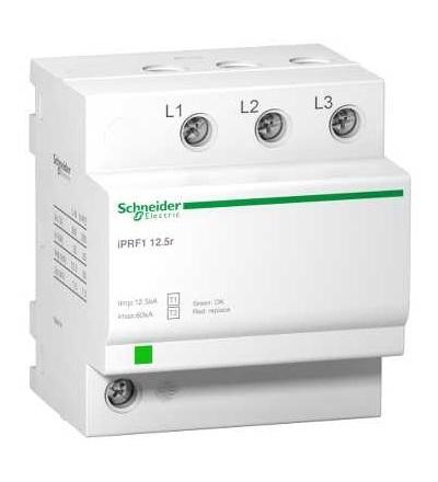 Schneider Electric A9L16633 IPRF1 12,5r modulární svodič přepětí, 3p, 350V, s dálkovým přenosemt