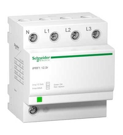 Schneider Electric A9L16634 IPRF1 12,5r modulární svodič přepětí, 3p+N, 350V, s dálkovým přenosemt