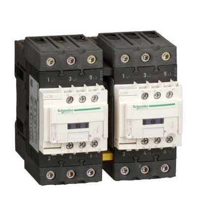 Schneider Electric LC2D65AV7 TeSys D reverzační stykač, 3p(3Z), AC-3, ? 440 V 65A, 400 V AC cívka