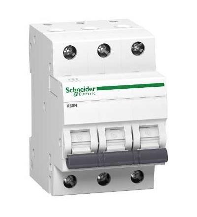 Schneider Electric A9K02340 Acti 9, jistič K60N, 3p, 40A, char. C, 6000A