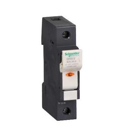 DF81V TeSys poj.odpojovač 1p 25A-velikost pojistky 8,5x31,5mm-se signalizací, Schneider Electric