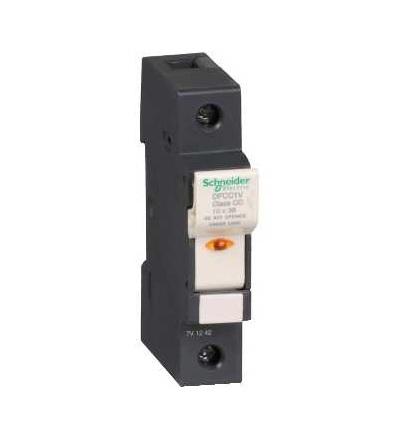 DFCC1V TeSys pojistkový odpojovač 1p 30A, třída pojistky CC, se signalizací, Schneider Electric