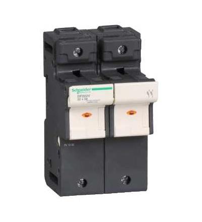 DF222V TeSys pojistkový odpojovač 2p 125A-velikost pojistky 22x58mm-se signalizací, Schneider Electric