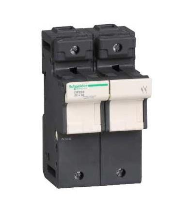 DF222 TeSys pojistkový odpojovač 2p 125A, velikost pojistky 22x58mm, Schneider Electric