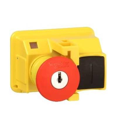 Schneider Electric GV2K021 TeSys GV2, ovl. hlavice O 40mm, uvolnění klíčem, ? 22, červená