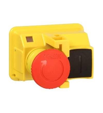 Schneider Electric GV2K031 TeSys GV2, ovl. hlavice O 40mm, uvolnění otočením, ? 22, červená