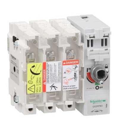 Schneider Electric GS2PPB3 Tělo pojistkového odpínače TeSys GS2p, 3p, 315A, DIN B1, B2, B3