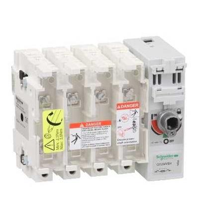 Schneider Electric GS2MMB4 Tělo pojistkového odpínače TeSys GS2M, 4p, 200A, DIN B1, B2