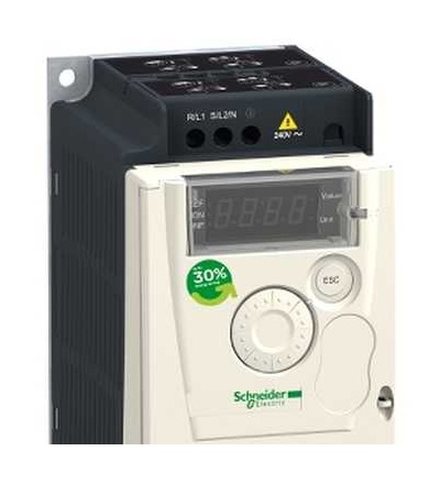 Schneider Electric ATV12P055M2 Frekvenční měnič ATV12-0,55 kW-0,75hp-200..240V-1fáz.-na základní desce