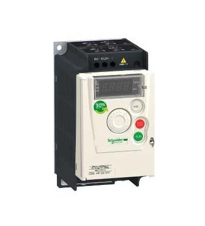 Schneider Electric ATV12P075M2 Frekvenční měnič ATV12, 0,75kW, 1hp, 200..240V, 1fáz., na základní desce