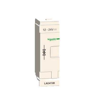 LAD4T3B TeSys D, odrušovací člen, obousměrná omezující dioda, 24 V AC/DC, Schneider Electric