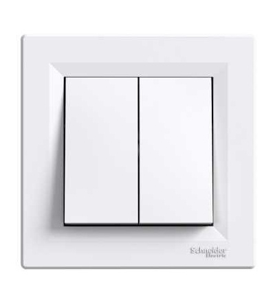 EPH0300121 Asfora, přepínač sériový, ř.5, bezšroubový, bílá, Schneider Electric