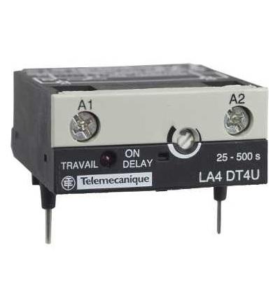 Schneider Electric LA4DT4U Elektronický časový modul, typ zpož. sepnutí 25...500 s, 24...250 V DC/AC