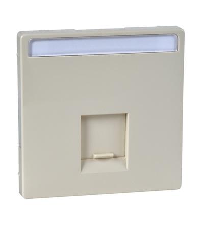 MTN466444 Centrální deska pro nosnou desku s propojovacím modulem, S-Design, white cream, Schneider Electric