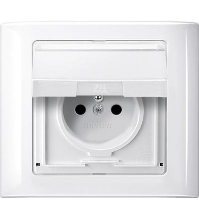 MTN400119 Rámeček Aquadesign, jednonásobný, IP44, polar, Schneider Electric