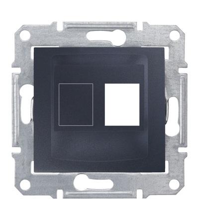 SDN4300670 Kryt pro 1xRJ45 AMP, MOLEX, graphite, Schneider Electric