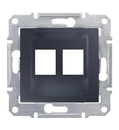 SDN4400670 Kryt pro 2xRJ45 AMP, MOLEX, graphite, Schneider Electric