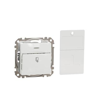 SDD111121 Spínač pro hotelové karty, Bílá, Schneider electric