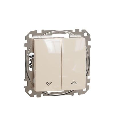 SDD112114 Tlačítkový ovládač žaluzií, Béžová, Schneider electric