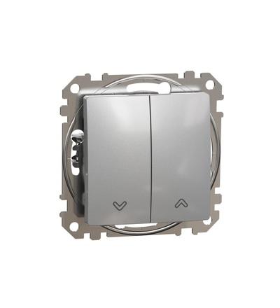 SDD113114 Tlačítkový ovládač žaluzií, Aluminium, Schneider electric