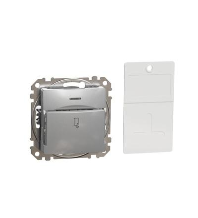 SDD113121 Spínač pro hotelové karty, Aluminium, Schneider electric