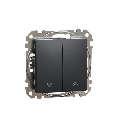 SDD114114 Tlačítkový ovládač žaluzií, Antracit, Schneider electric
