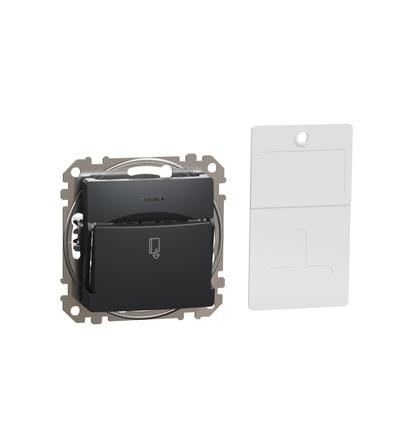 SDD114121 Spínač pro hotelové karty, Antracit, Schneider electric