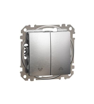 SDD170114 Tlačítkový ovládač žaluzií, Leštěný Hliník, Schneider electric