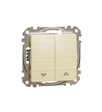 SDD180114 Tlačítkový ovládač žaluzií, Bříza, Schneider electric