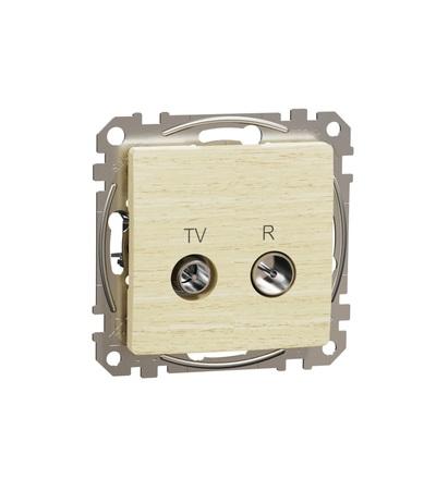 SDD180474R TV R zásuvka průběžná 7dB, Bříza, Schneider electric