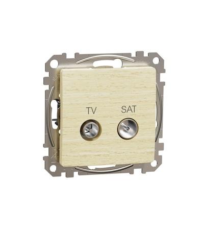 SDD180474S TV SAT zásuvka průběžná 7dB, Bříza, Schneider electric