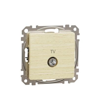 SDD180474 TV zásuvka průběžná 7dB, Bříza, Schneider electric