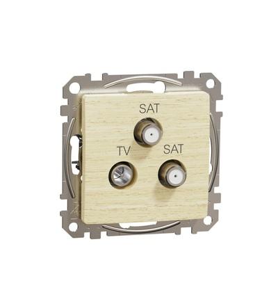 SDD180481S TV-SAT-SAT zásuvka koncová 4dB, Bříza, Schneider electric