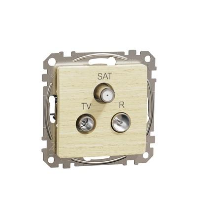 SDD180484 TV-R-SAT zásuvka průběžná 7dB, Bříza, Schneider electric