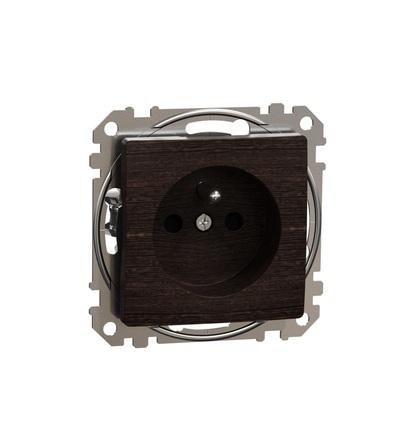 SDD181012 Zásuvka 230V 16A clonky bezšroubová, Wenge, Schneider electric