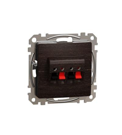 SDD181411 Zásuvka reproduktorová dvojitá, Wenge, Schneider electric