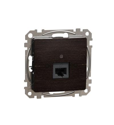 SDD181461 Datová zásuvka 1xRJ45 kat. 6 UTP, Wenge, Schneider electric