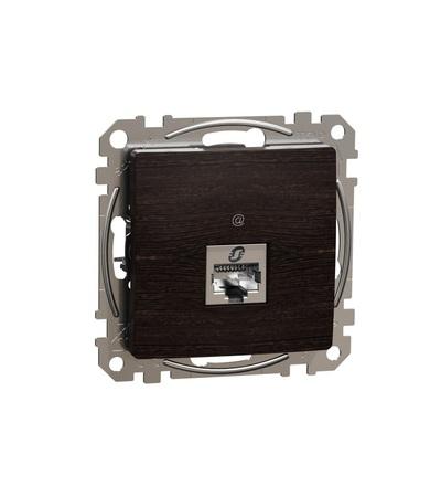 SDD181466S Datová zásuvka 1xRJ45 kat. 6A STP, Wenge, Schneider electric