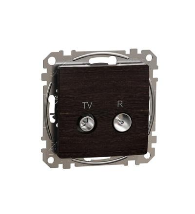 SDD181471R TV R zásuvka koncová 4dB, Wenge, Schneider electric